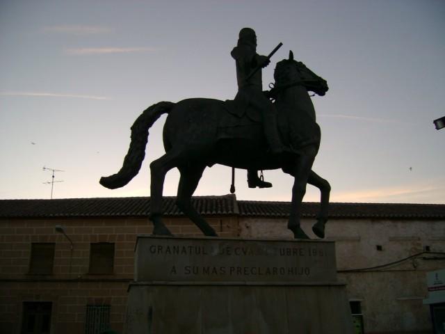 Monumento al General Espartero en su ciudad natal Granátula de Calatrava.( Ciudad Real) J. LilloGaliani