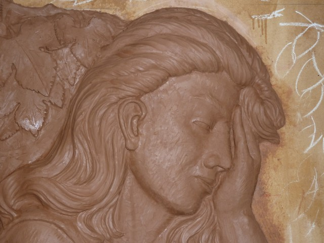 Relieve (detalle) Modelado en arcilla J.Lillo Galiani