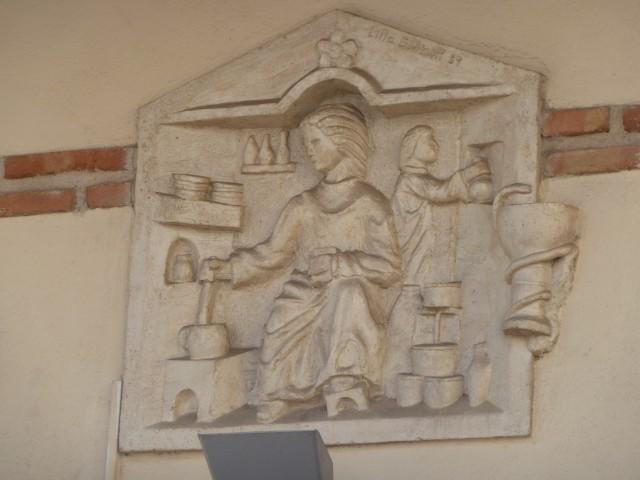 Trastienda de farmacia Piedra reconstituída J.Lillo Galiani